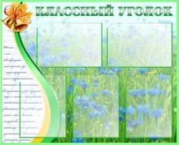 Купить Стенд Классный уголок на фоне василькового поля 860*700мм в России от 2549.00 ₽