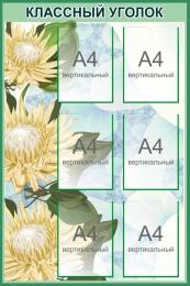Купить Стенд Классный уголок в кабинет биологии в зеленых тонах 760*1150 мм в России от 3600.00 ₽