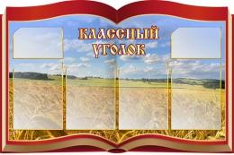 Купить Стенд Классный уголок в виде раскрытой книги на фоне поля 1050* 700 мм в России от 3132.00 ₽