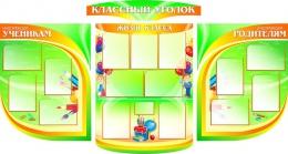 Купить Стенд-Композиция Классный уголок с расширенной центральной частью 2370*1270мм в России от 10238.00 ₽