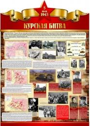 Купить Стенд Курская битва на тему  ВОВ размер 790*1100мм без карманов в России от 3207.00 ₽