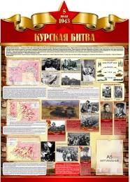 Купить Стенд Курская битва на тему  ВОВ размер 790*1100мм в России от 3430.00 ₽