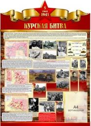Купить Стенд Курская битва на тему  ВОВ размер 900*1250мм в России от 4231.00 ₽