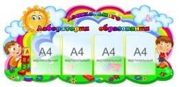 Купить Стенд Лаборатория дошкольного образования 1300*600 мм в России от 3354.00 ₽