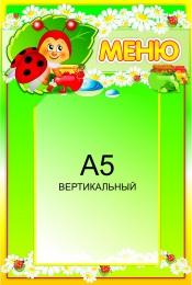 Купить Стенд Меню с карманом А5 для группы Божья коровка 250*370мм в России от 380.00 ₽