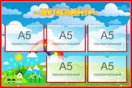 Купить Стенд Метеоцентр для экологической тропы 750*500 мм в России от 1589.00 ₽