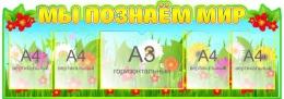 Купить Стенд Мы познаём мир для начальной школы 1470*520мм в России от 3291.00 ₽