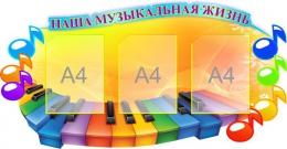 Купить Стенд Наша музыкальная жизнь в кабинет Музыки 1100*570мм в России от 2679.00 ₽