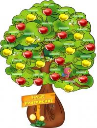 Купить Стенд Наше Настроение - Яблонька на 30 детей 1200*900 мм в России от 5317.00 ₽