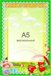 Купить Стенд Наши горшочки для группы Ягодка с карманом А5 в детский сад 230*340мм в России от 329.00 ₽