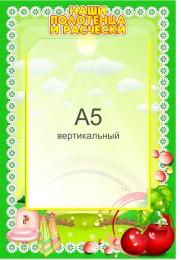 Купить Стенд Наши полотенца и расчески для группы Вишенка с карманом А5 в детский сад 230*340мм в России от 329.00 ₽