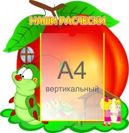 Купить Стенд Наши расчёски группа Гусеничка А4 450*460 мм в России от 885.00 ₽