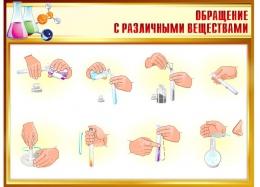 Купить Стенд Обращение с различными веществами 940*680мм в России от 2282.00 ₽