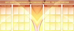 Купить Стенд Организационно-воспитательные мероприятия 3000*1300мм в России от 16323.00 ₽