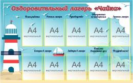Купить Стенд Оздоровительный лагерь Чайка 1470*920 мм в России от 5804.00 ₽