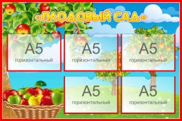 Купить Стенд Плодовый сад для экологической тропы 750*500 мм в России от 1589.00 ₽
