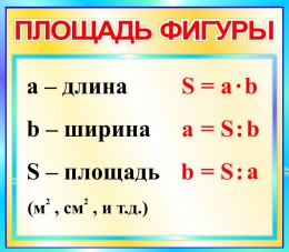 Купить Стенд Площадь фигуры  для начальной школы в бирюзовых тонах 400*350мм в России от 500.00 ₽