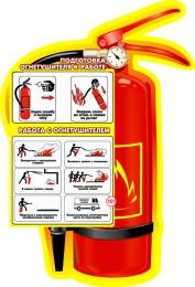 Купить Стенд  Подготовка огнетушителя к работе 75*110 см в России от 3153.00 ₽