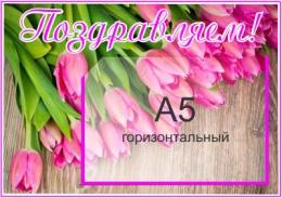 Купить Стенд Поздравляем с А5 горизонтальным карманом 340*240мм в России от 341.00 ₽