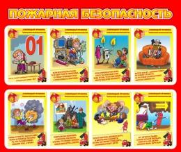 Купить Стенд Пожарная безопасность 950*800 мм в России от 2858.00 ₽