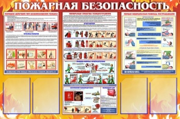 Купить Стенд Пожарная безопасность России в России от 5960.00 ₽