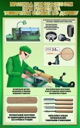 Купить Стенд Правила безопасности при работе на токарном станке по дереву в зеленых тонах 500*800мм в России от 1504.00 ₽
