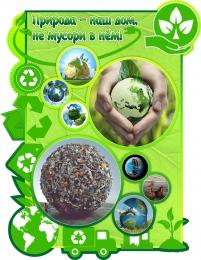 Купить Стенд Природа - наш дом, не мусори в нём! 760*990мм в России от 2927.00 ₽