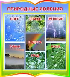 Купить Стенд природные явления в радужных тонах 390*440 мм в России от 633.00 ₽