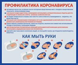 Купить Стенд Профилактика Коронавируса 500*410 мм в России от 732.00 ₽
