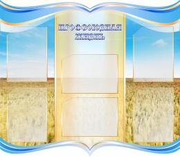 Купить Стенд Профсоюзная жизнь в  золотисто-голубых тонах  1000*870 мм в России от 3690.00 ₽