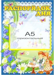 Купить Стенд Распорядок дня группа Василёк карман А5 горизонтальный 280*400 мм в России от 471.00 ₽