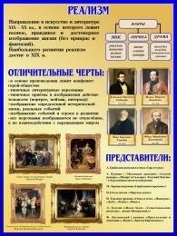 Купить Стенд Реализм в искусстве и литературе 450*600 мм в России от 964.00 ₽