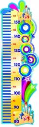 Купить Стенд-Ростомер для группы Акварельки линейка слева 280*890 мм в России от 923.00 ₽