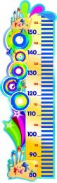 Купить Стенд-Ростомер для группы Акварельки линейка справа 280*890 мм в России от 923.00 ₽