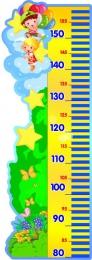 Купить Стенд-Ростомер для группы Почемучки 295*830 мм в России от 953.00 ₽