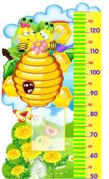 Купить Стенд-Ростомер для группы Пчёлка  с карманом А5 530*860мм в России от 1823.00 ₽