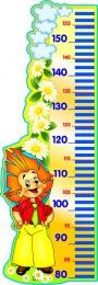 Купить Стенд-Ростомер для группы Знайка 300*850 мм в России от 992.00 ₽