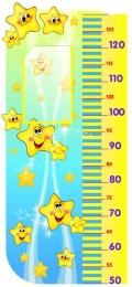 Купить Стенд-Ростомер для группы Звёздочки в золотистых тонах 850*400 мм в России от 1373.00 ₽