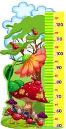 Купить Стенд Ростомер с изображением муравьев и мухомора 440*880 мм в России от 1506.00 ₽