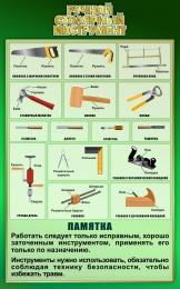 Купить Стенд Ручной столярный инструмент в зеленых тонах 500*800 мм в России от 1428.00 ₽