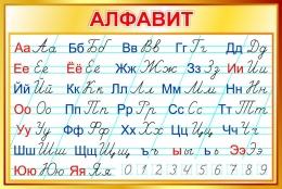 Купить Стенд Русский прописной Алфавит по Тириновой в золотистых тонах 1000*670мм в России от 2399.00 ₽