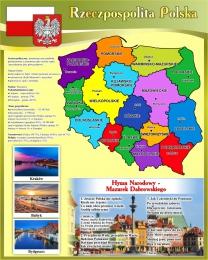 Купить Стенд с картой Польши 600*750мм в России от 1607.00 ₽