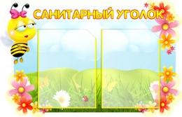 Купить Стенд Санитарный уголок группа Пчёлка 700*450 мм в России от 1322.00 ₽