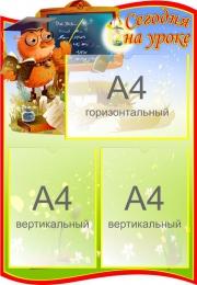 Купить Стенд Сегодня на уроке для начальной школы 500*720мм в России от 1568.00 ₽