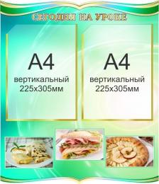 Купить Стенд Сегодня на уроке кулинарии 500*580мм в России от 1230.00 ₽