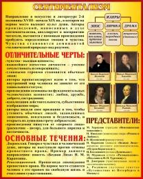 Купить Стенд Сентиментализм в искусстве и литературе 400*500 мм в России от 716.00 ₽