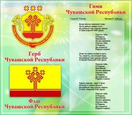 Купить Стенд  Символика Чувашской республики в зеленых тонах в России от 880.00 ₽