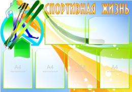 Купить Стенд Спортивная жизнь - Лыжи 1000*700 мм в России от 3063.00 ₽