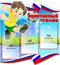 Купить Стенд Спортивный уголок на 3 кармана А4  750*800 мм в России от 2454.00 ₽