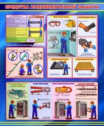 Купить Стенд Средства индивидуальной защиты в синих тонах 1000*1200мм в России от 4296.00 ₽